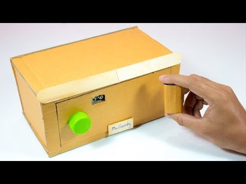How to make a electronic safe locker from cardboard