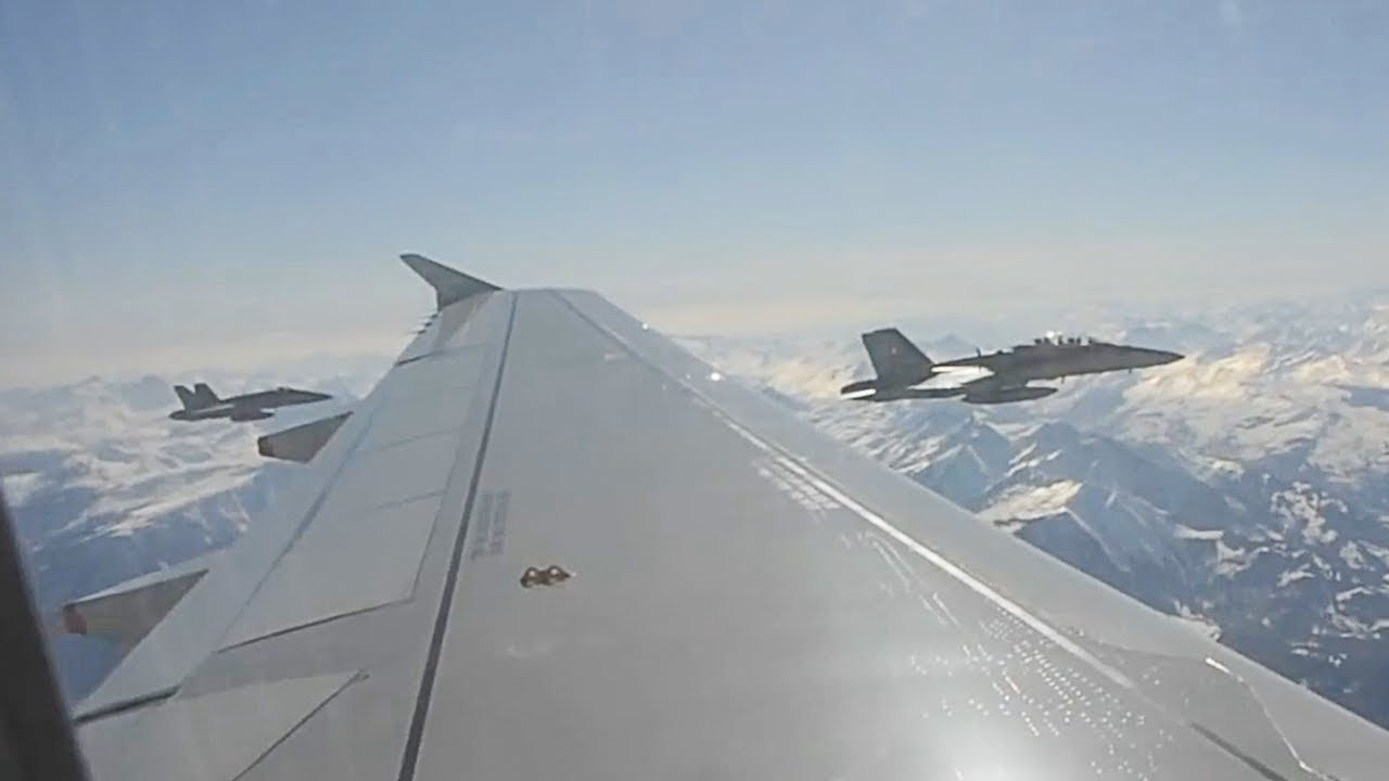 Plane Gets Escorted By Fighter Jets