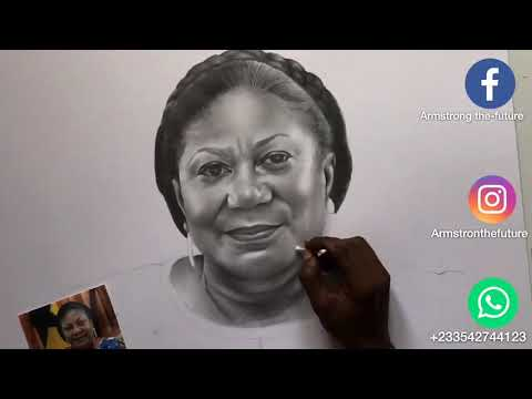 An amazing painter paints First Lady Rebecca in grand style