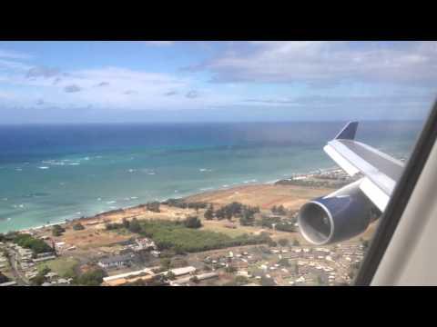 Delta 747 landing in Honolulu