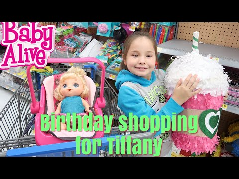 BABY ALIVE Outing Shopping For Tiffany Birthday Party At walmart