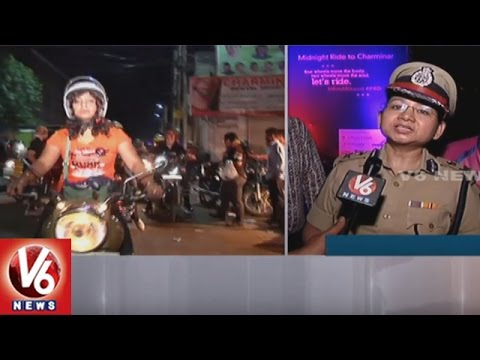 Mid Night Ride : Swati Lakra Flags Off Bike Rally   International Female Ride Day   V6 News