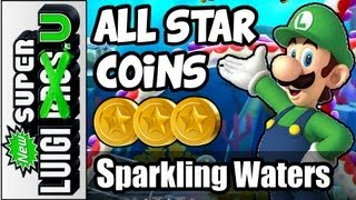 All Star Coins in Sparkling Waters - New Super Luigi U 100% Guide  (Wii U Gameplay Guide)