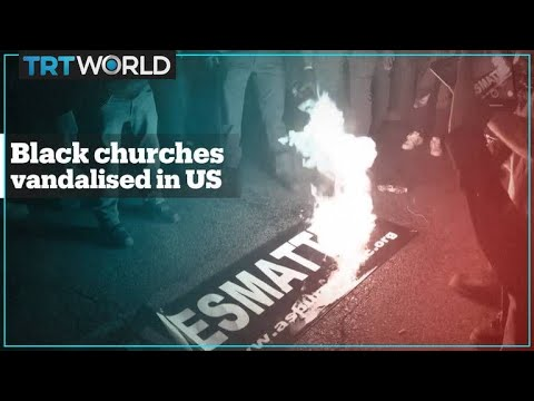 Two historic Black churches vandalised during pro-Trump rallies