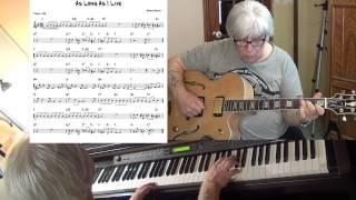 As long As I Live - Jazz guitar & piano cover ( Harold Arlen ) Yvan Jacques