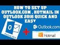 How to Configure Outlook to connect to Microsoft (Live, MSN, Hotmail, Outlook.com) email account