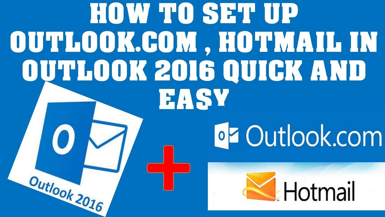 how to configure outlook to connect to microsoft live msn hotmail