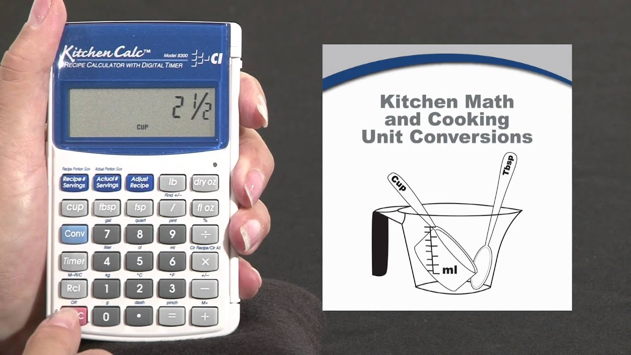 kitchen calc pro kitchen math and conversions how to youtube