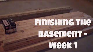 Finishing My Basement - Week 1 (august 20, 2014)