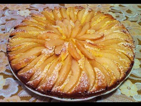 Пирог из груш в мультиварке рецепт с фото