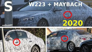 Mercedes Erlkönig S-Klasse S-Class W223 + Mercedes-Maybach S Türgriffe - door handles * 4K SPY VIDEO