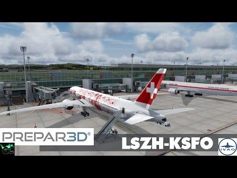 P3D #21 | SWR38 LSZH - KSFO | Flug 6 Teil 1/4 [HD|German]