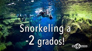 Snorkeling a -2 grados! - Islandia #4