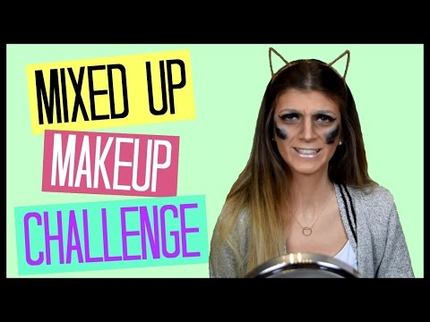 Mixed Up Makeup Challenge   katerinaop22
