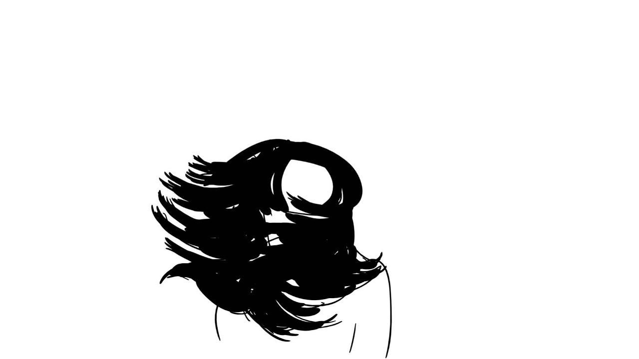 2D Animation Test (Hair Animation) - YouTube