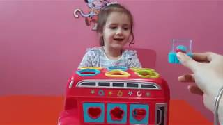 Learn Shapes With Shape Sorting Bus | Learn Shapes For Toddlers | Learn With Julia