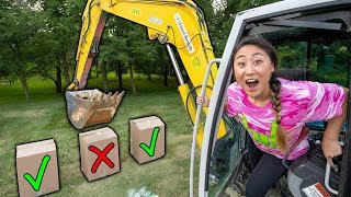DONT CRUSH THE WRONG MYSTERY BOX!! (CHALLENGE GAME)
