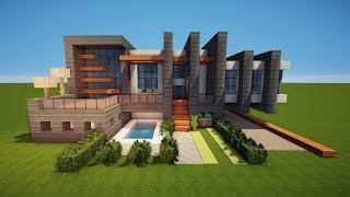 Download Minecraft Villa Mit Pool Bauen Videos Dcyoutube - Minecraft hauser zeigen