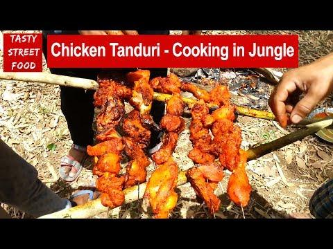 Tanduri Chicken & Chicken Masala - Cooking in My Village | Indian Street Food