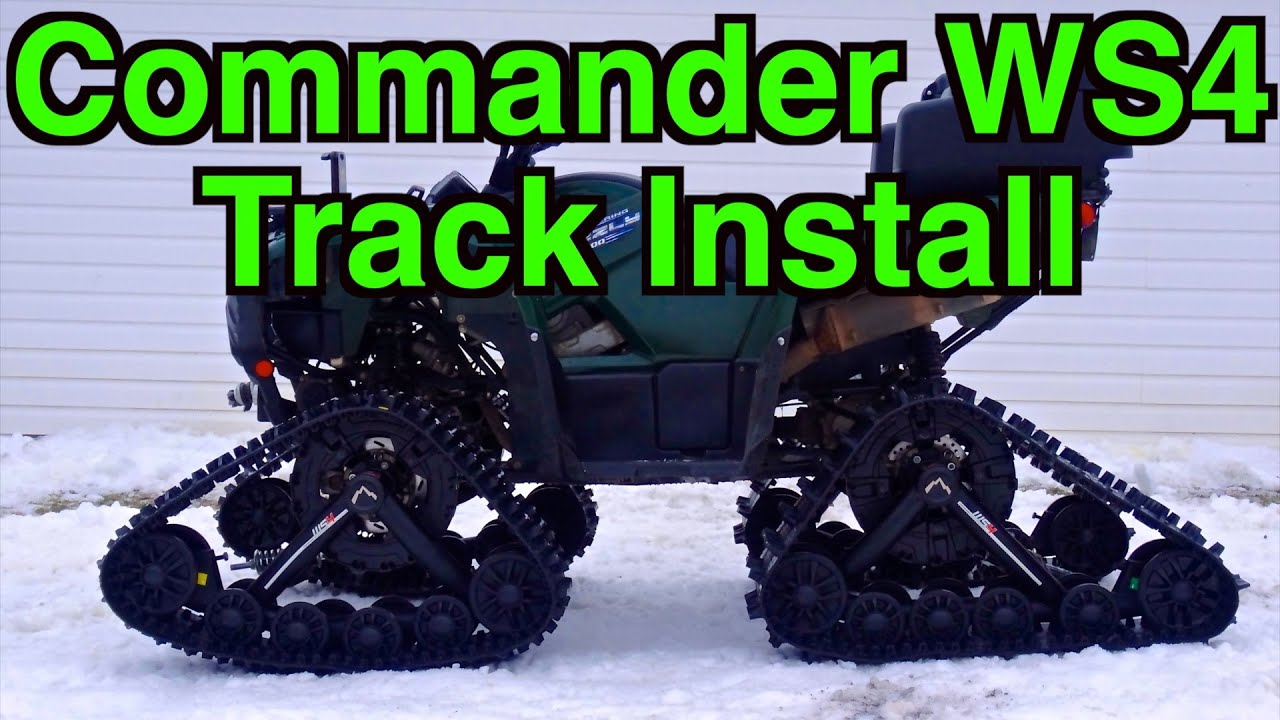 Kimpex Commander Ws4 Track Install On Yamaha Grizzly 700