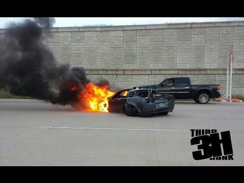 INSANE 150 MPH CRASH!  800 hp Corvette Crashes Street Racing