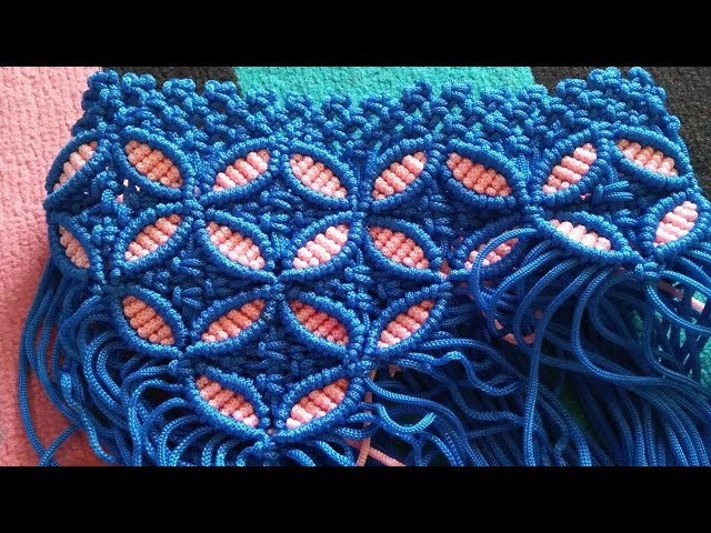 Tutorial tas tali kur motif bunga bulat part1