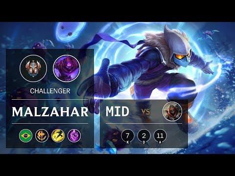 Malzahar Mid vs Zed - BR Challenger Patch 9.23