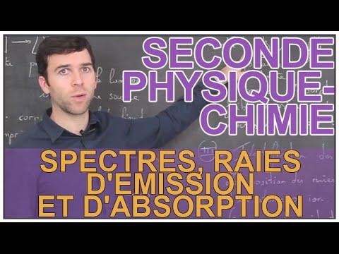 Spectres, raies d'émission et d'absorption - Physique ...
