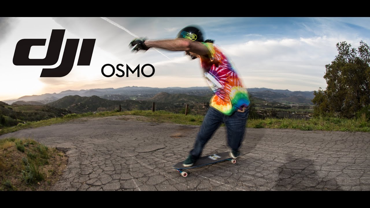 DJI Osmo Test Downhill Skateboarding feat Louis Pilloni and Jimmy Riha