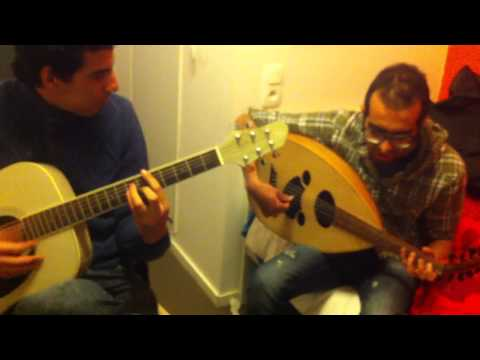 "Oud and Guitar Improvisation. Ya rayah "" Cover """