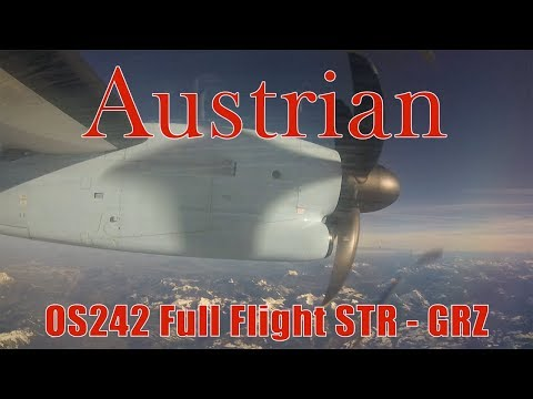 FULL FLIGHT Austrian Airlines Dash 8 from Stuttgart to Graz | OS242