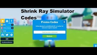 Roblox 🎉 Shrink Ray Simulator BETA New All Codes