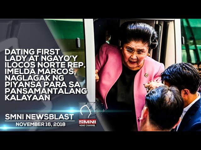 DATING FIRST LADY AT NGAYO'Y ILOCOS NORTE REP  IMELDA MARCOS, NAGLAGAK NG PIYANSA