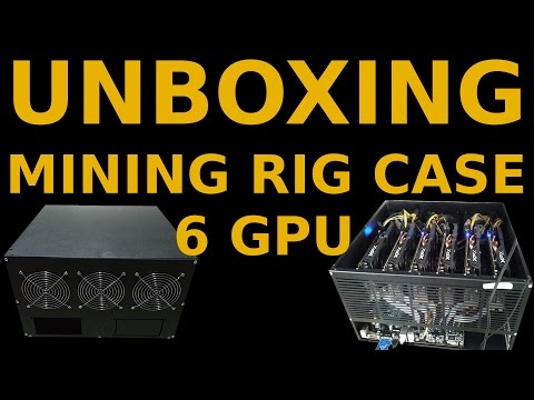 Unboxing: 6 GPU Mining Rig Case With 3 Fans For Altcoin Miners Ethereum