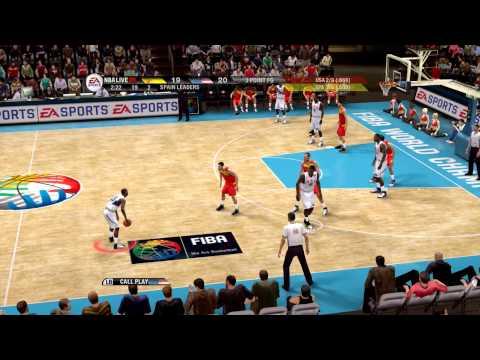 NBA Live 09 - USA vs Spain Epic Game