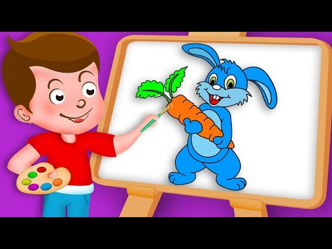 Drawing Rabbit Drawing Paint And Colouring For Kids   Kids Drawing TV