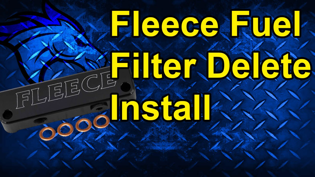 small resolution of fuel filter delete by fleece performance install 4th gen dodge cummins youtube