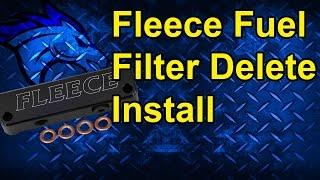 Fuel Filter Delete by Fleece Performance Install: 4th Gen Dodge Cummins