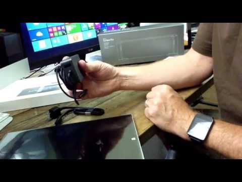 Unboxing of the Surface Pro 3 Docking Station and Core i3 Surface Pro.
