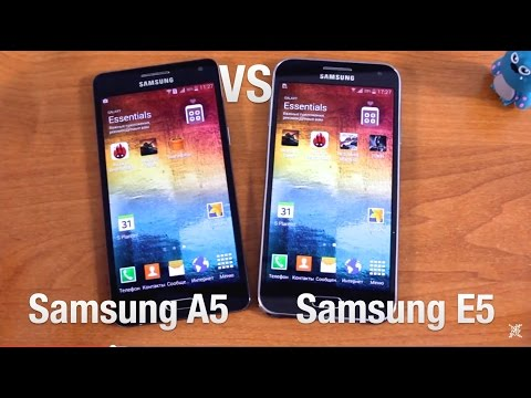 Samsung A5 Vs Samsung E5 Сравнение
