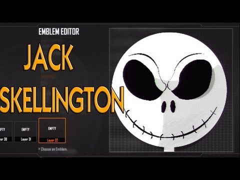 Black Ops 2 - Jack Skellington Emblem Tutorial (Nightmare Before Christmas)