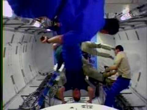 Astronauts enter the new Japanese module Kibo