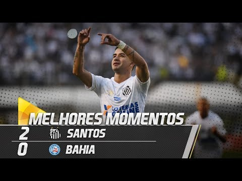 Santos 2 x 0 Bahia | MELHORES MOMENTOS | Brasileirão (25/08/18)