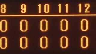 試合終了後からハイライト。 試合は延長12回引き分け。最後はあっけな...