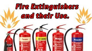 Different type of Fire Extinguishers & their uses {Hindi}