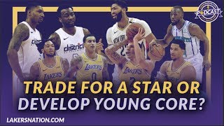 Lakers Podcast: Should The Lakers Trade for a Star or Continue to Develop The Young Core