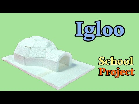 How To Make Igloo From Thermocol   DIY Art And Craft   Thermocol Craft For School Project