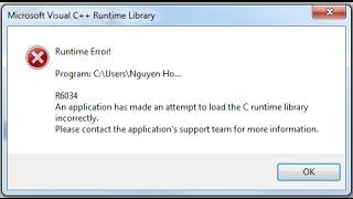 Cara Memperbaiki Microsoft Visual C++ Runtime Library Error ! With CMD