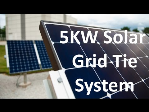 5KW GROWATT Grid Tie Solar System with 5000 watts Solar Panels