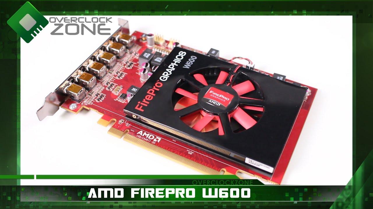 รีวิว AMD FirePro W600 การ์ดสำหรับ Multi-Monitor